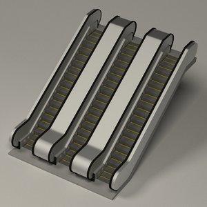 3ds max escalator