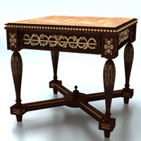 classic table carved 3d max