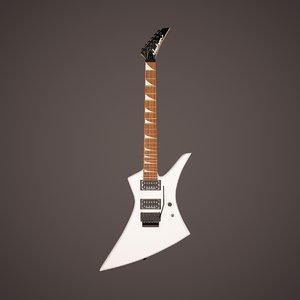 jackson kelly ke3 electric guitar 3d max