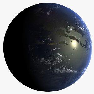 extinction event earth 3d model