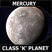 3d planet mercury