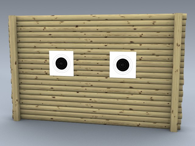 rifle backstop 3d 3ds