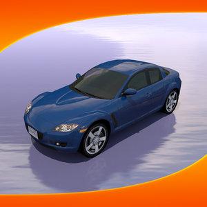 3dsmax mazda rx-8 car