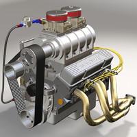 3d small block v8 engine