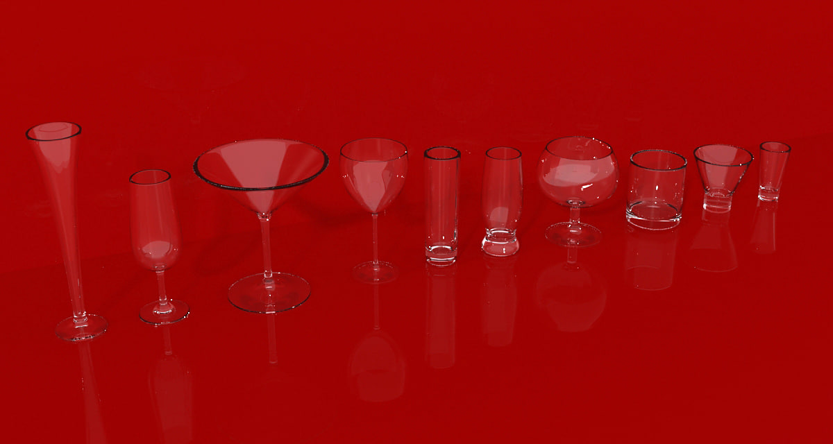 obj set glassware glass
