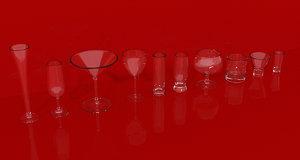 obj set glassware glass