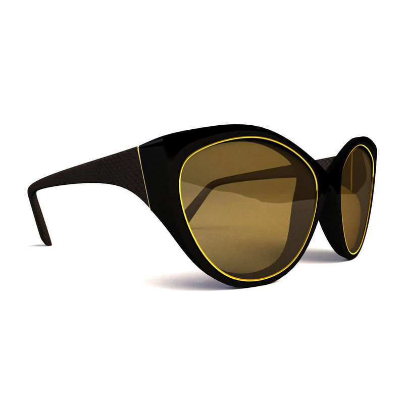 sunglasses glasses 3d obj