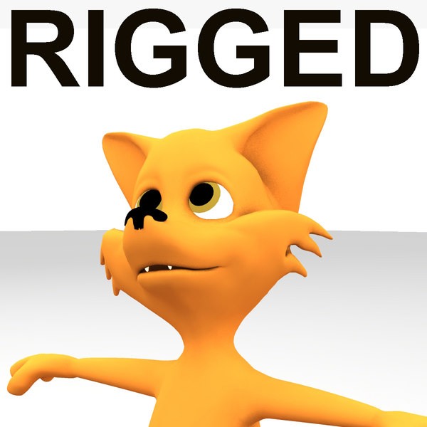 3d rigged fox