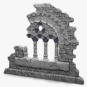 3d old fantasy ruin-element