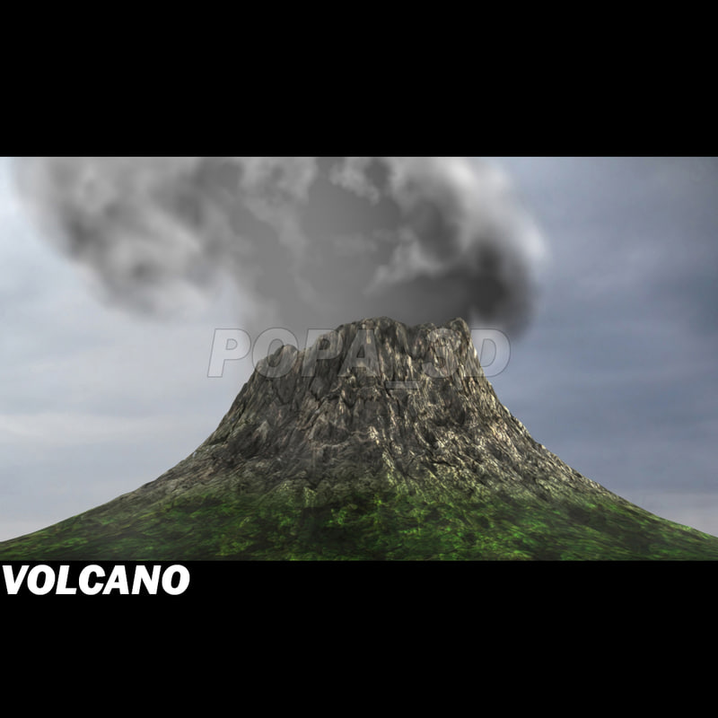 volcano volcanic mountain 3ds