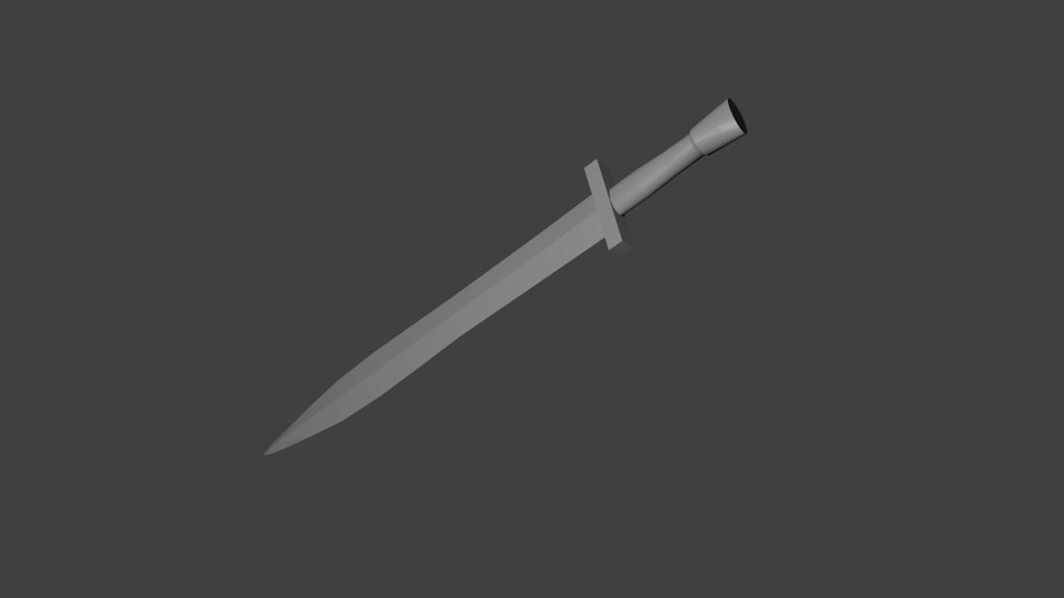 free obj mode simple sword