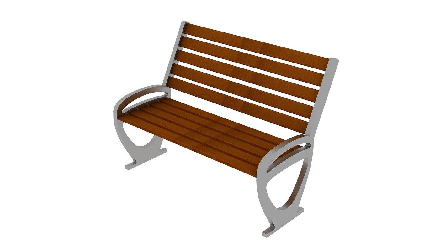 free ma model wood bench