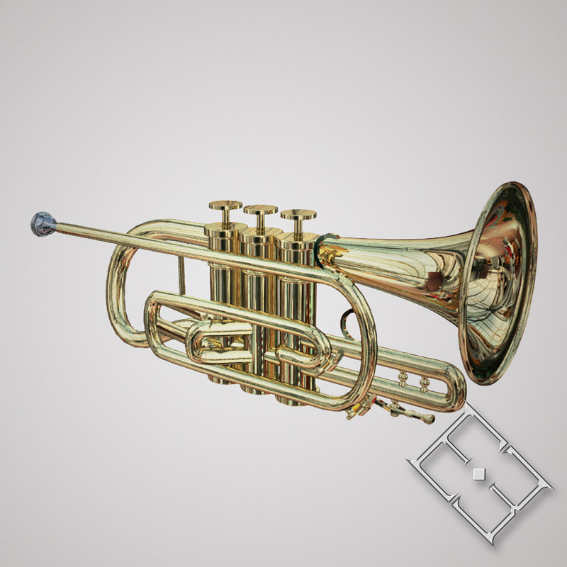 brass trumpet obj
