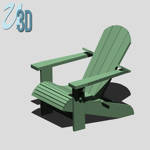 adirondack chair paint 3d 3ds