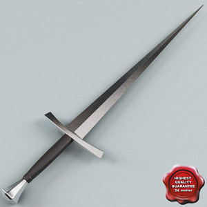 3d bastard sword