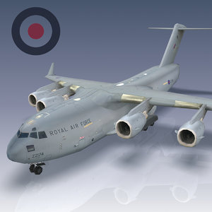 c-17 globemaster transport raf 3d 3ds