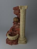 Fountain & Stone Column
