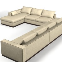 Ego Zeroventiquatro Brando 4987 corner large big sectional sofa