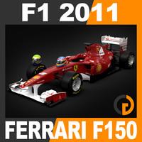 3d formula 1 2011 ferrari