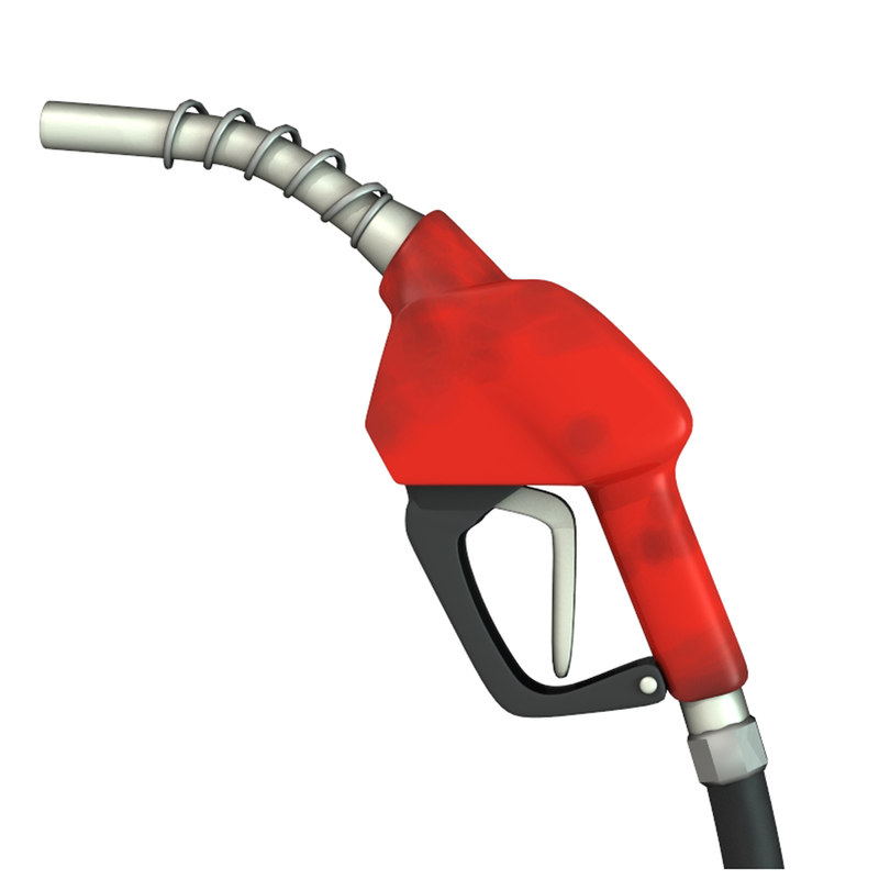 3d model gasoline pump handle