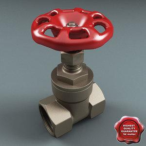 3d model gate valve v2