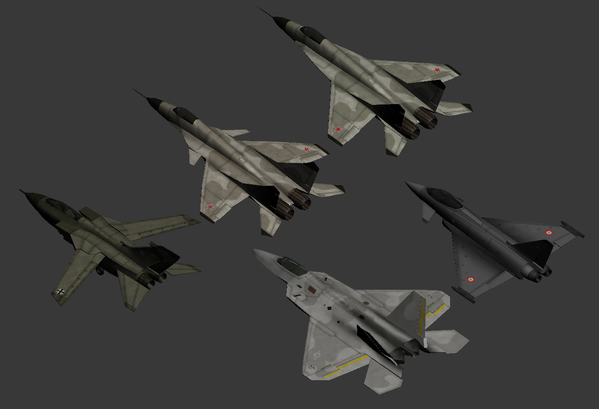 military aircrafts 3d model
