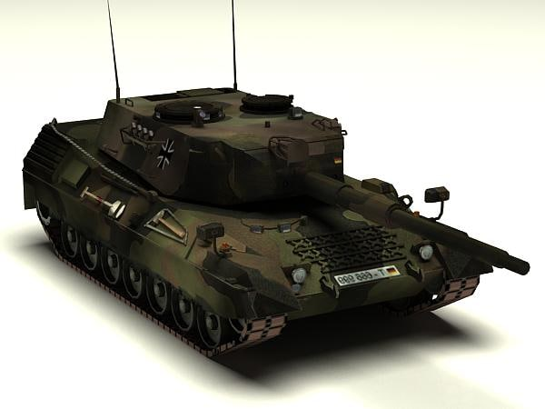 3d model of german leopard 1a3 battle tank