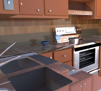 kitchen scene 3ds