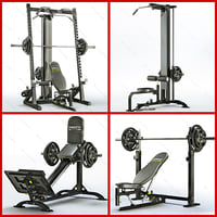 equipment bodybuilding powertec power 3d model