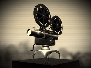 vintage reel movie projector 3d model