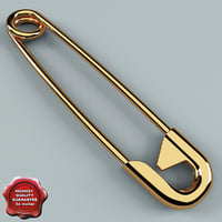 3d safety pin v1 model