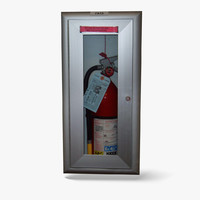 Fire Extinguisher Cabinet - Low Poly