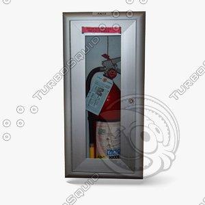 extinguisher cabinet 3d model