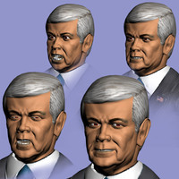 3d 3ds newt gingritch presidential