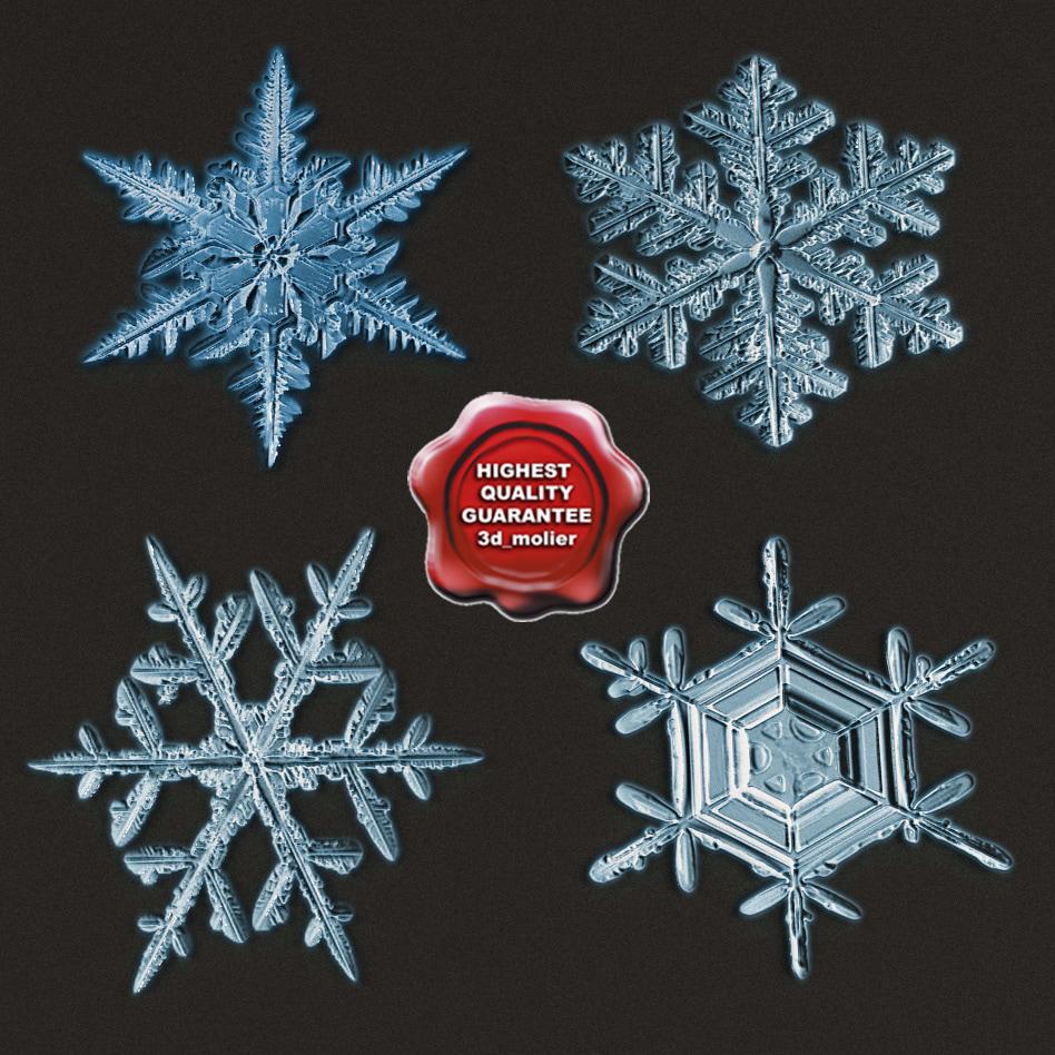 c4d snowflakes v2