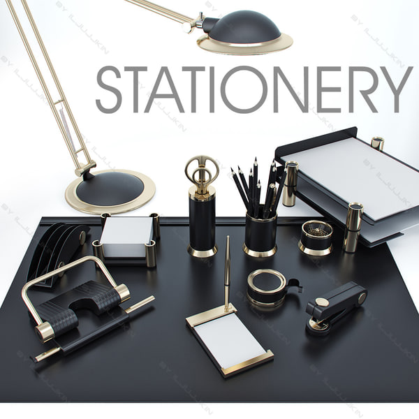 3d 3ds stationery set