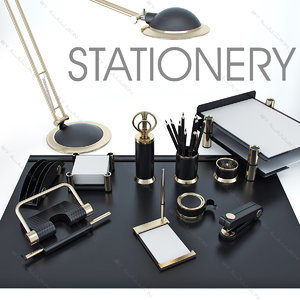 3d 3ds stationery set