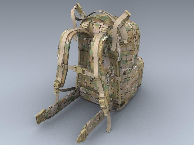 army medium rucksack multicam 3ds