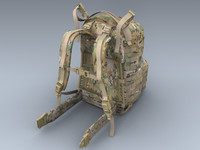 army medium rucksack multicam 3ds
