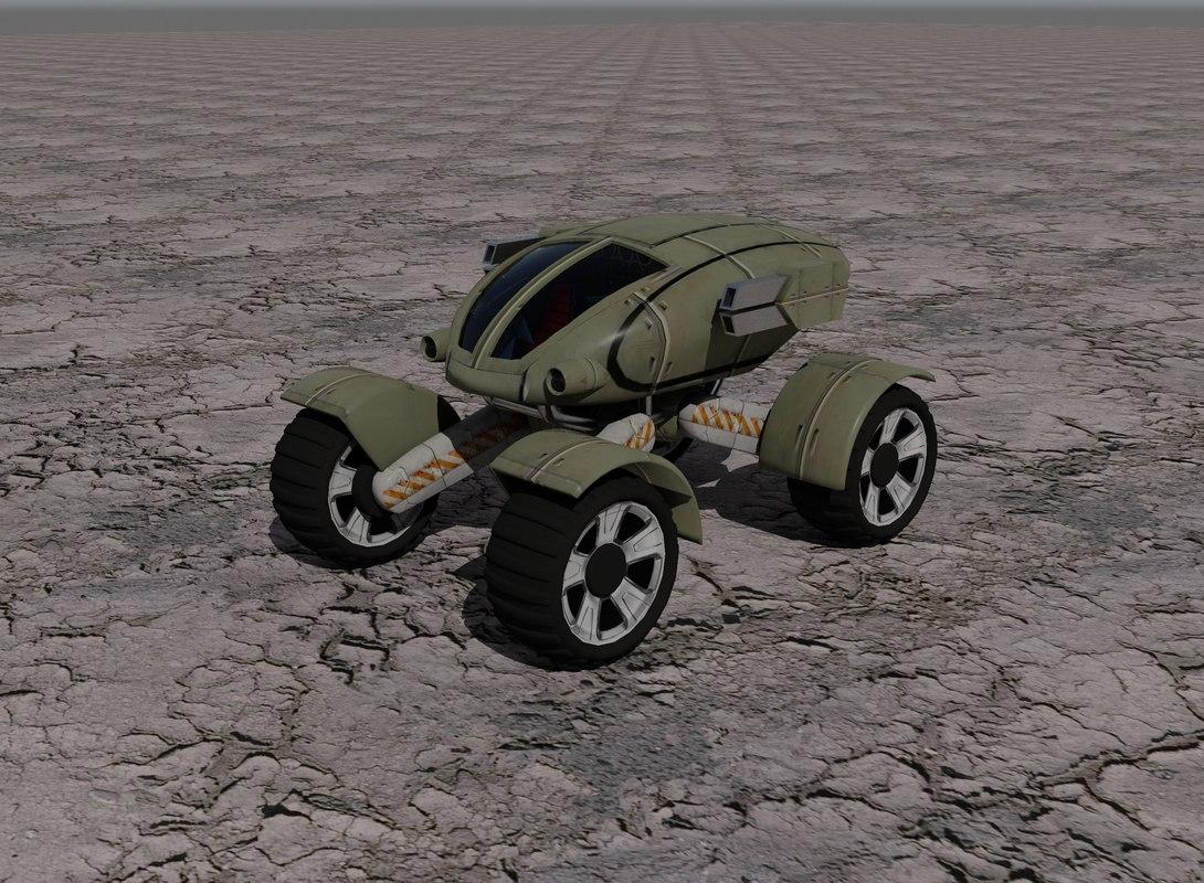 armored assault vehicle 3d model