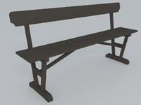 Wooden Bench, old style