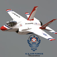 US Air Force F-35 A Lightning II Thunderbirds with Pilot