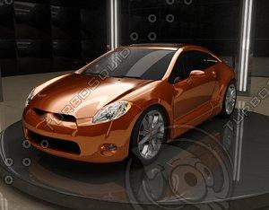 3d eclipse car model