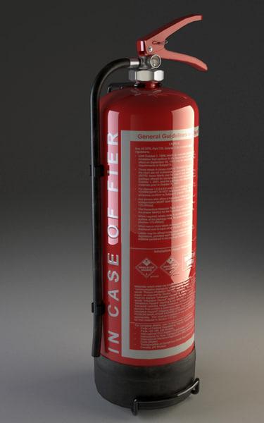 fire-extinguisher wall holder extinguisher 3ds