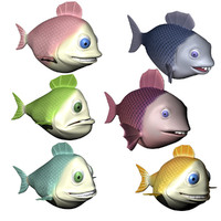 Cartoon Fish Character Collection