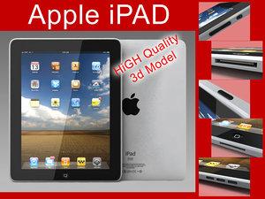 3d apple ipad