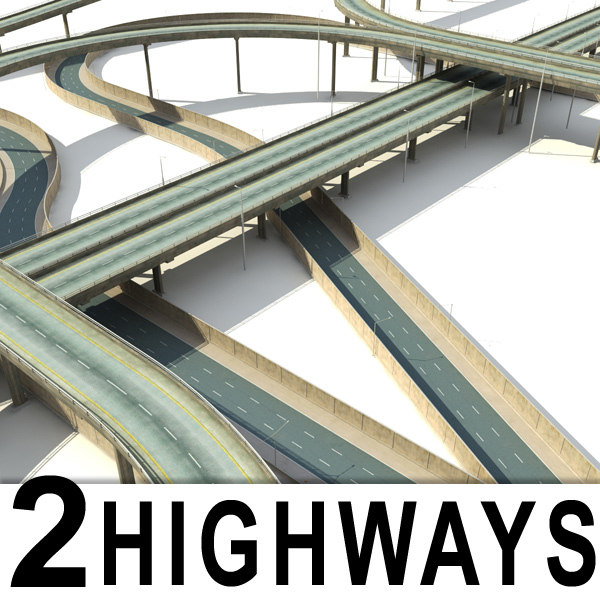 highways collections bridges overpass 3d max