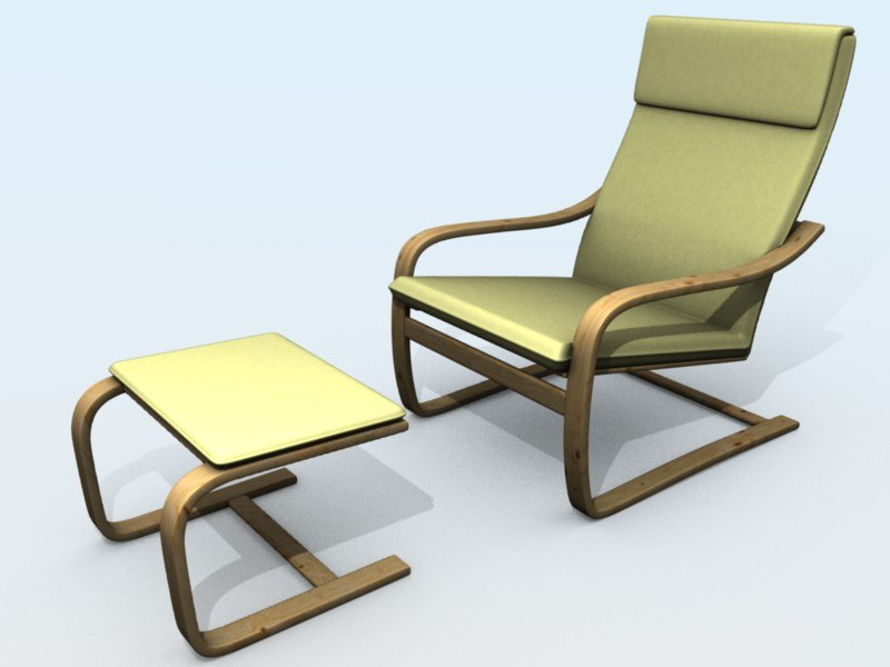 relax armchair ottoman obj