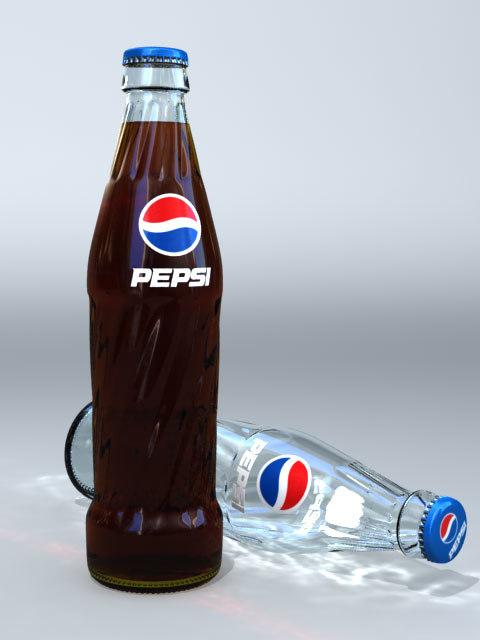 3d pepsi bottle