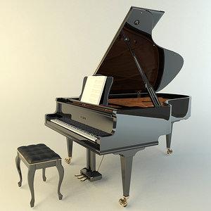 kawai piano 3d model